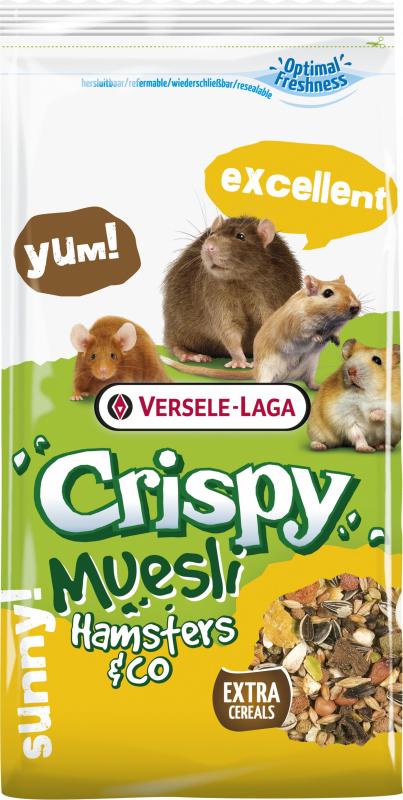 Knusprige Müsli Hamster & Co Komplettmischung für Hamster und Nagetiere