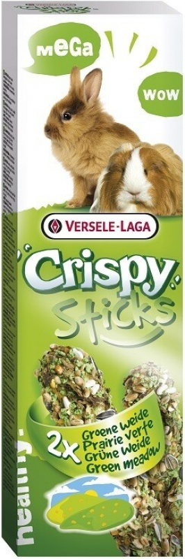 Versele Laga Crispy Sticks Prairie Verte pour cobayes et chinchillas