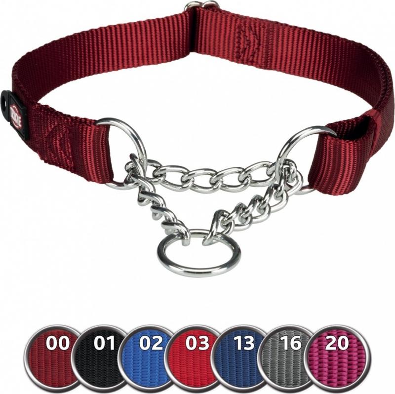 Premium Collier semi-étrangleur rouge