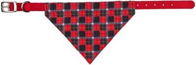Collier nylon avec foulard rouge