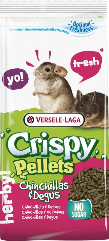 Versele Laga Crispy Pellets chinchilla et octodon
