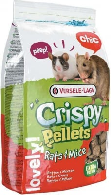 """Nourriture Rat, Souris, Hamster Crispy pellets formule """"tout en un"""""""