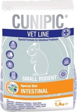 Cunipic Vetline Intestinal Formule pour le soutien du système digestif pour petits rongeurs