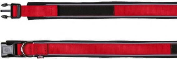 Premium Collier avec doublure néoprène Rouge - Extra Large