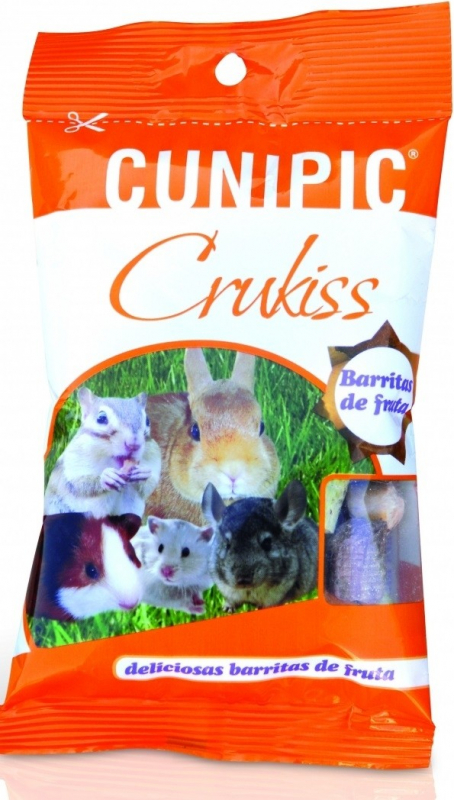 Cunipic Crukiss Complément alimentaire Snacks 4 fruits pour rongeurs