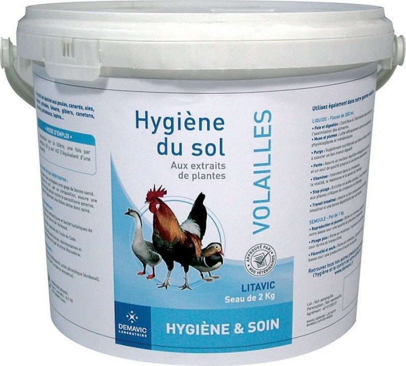 Hygiène du sol pour volailles Litavic - Demavic
