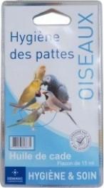Huile de cade pour protection des pattes des oiseaux