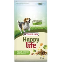 Happy life Adult Chicken Dinner - pour chiens adultes qui aiment l'alternance