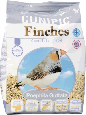 Cunipic Premium Finches Aliment complet pour Diamant Mandarin