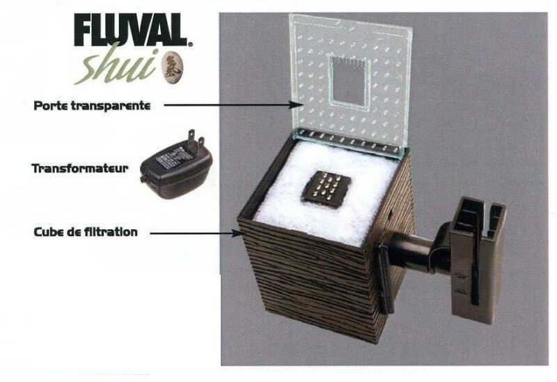 cube de filtration eclairage pompe pour fluval shui 19l. Black Bedroom Furniture Sets. Home Design Ideas
