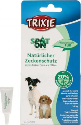 Protección anti pulgas  Spot On, spec.  perros pequeños y cachorros 3 x 0.75 ml