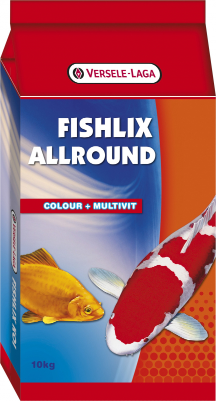 Fishlix Allround Mistura tricolor para peixes de lago - estimula a vitalidade e resistência dos seus peixes
