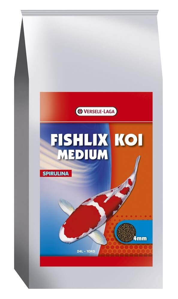 Ishlix koi medium 4 mm schwimmende granulate f r kois for Teichfische futter