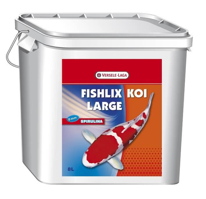 Fishlix koi large 8 mm schwimmendes granulat f r kois for Teichfische futter