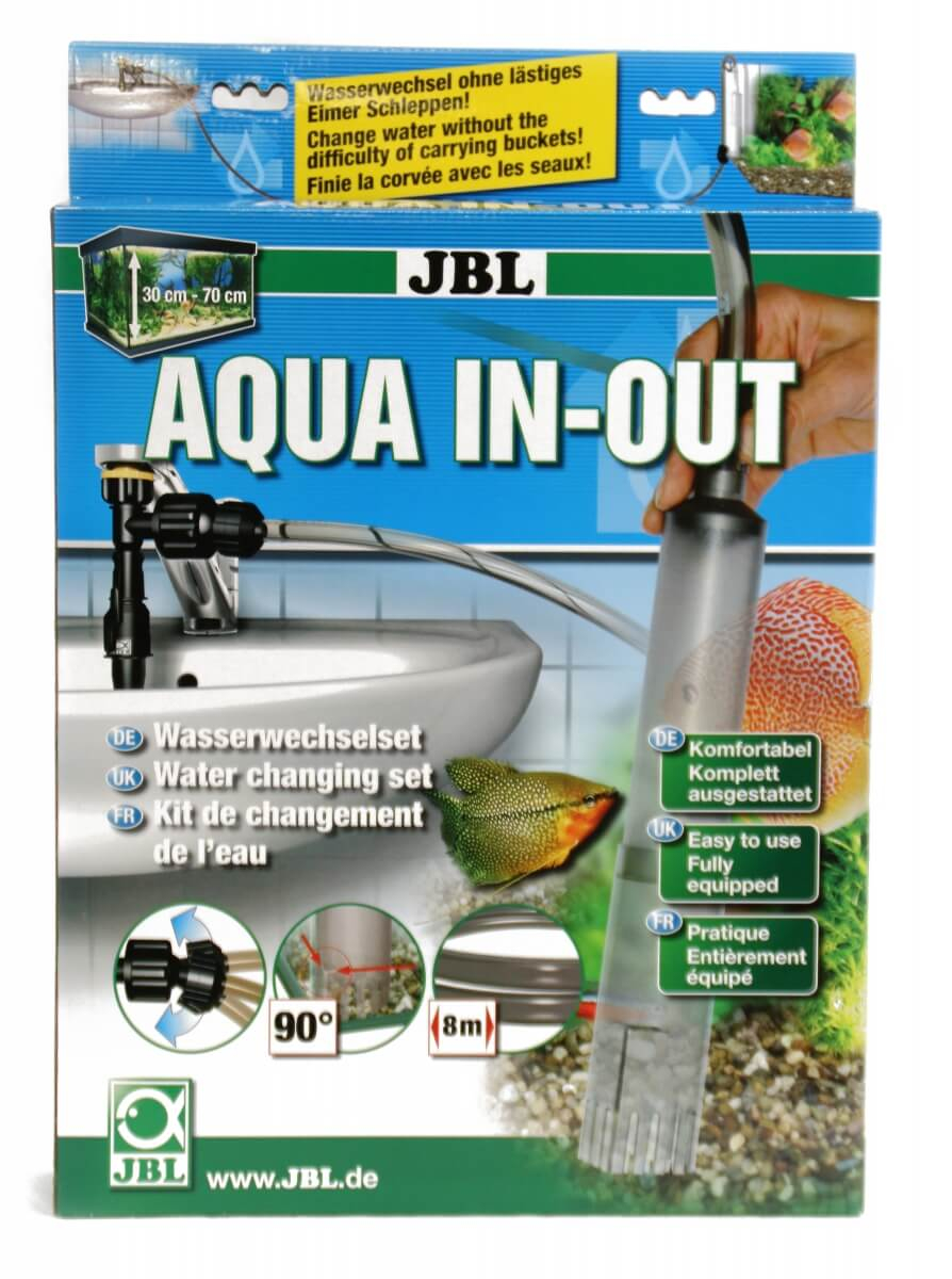 Cloche changement d 39 eau et remplissage pour aquarium aqua in out aspirateur et siphon - Aquarium changer l eau ...