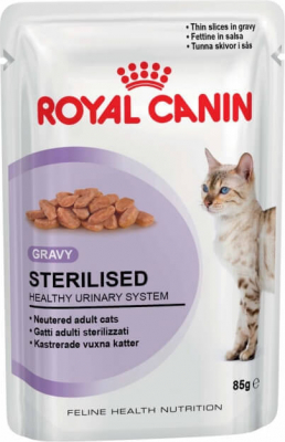 Pâtée en sauce pour chat adulte ROYAL CANIN Sterilised