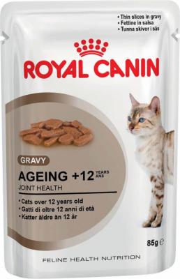 Pâtée Royal Canin Ageing + 12  en sauce pour chat mature