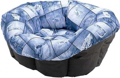 Cojín Sofá Cushion para perros y gatos, azul con estrellas blancas