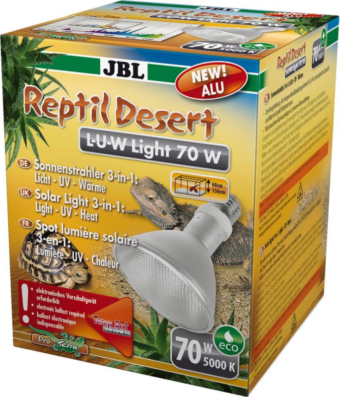 JBL Reptil Desert L-U-W Light - Spot solaire LUW pour terrarium désertique