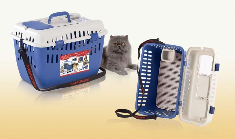 BINNY 1 TOP - cage de transport bleue -  chats et petits chiens_1