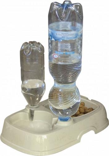 tota 2 mangeoire et siphon pour l 39 eau pour bouteilles d 39 eau gamelle. Black Bedroom Furniture Sets. Home Design Ideas