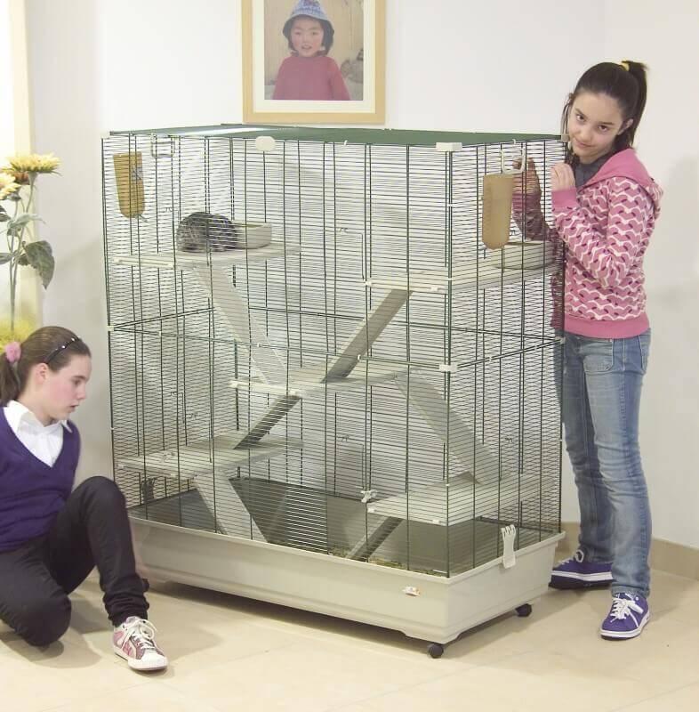 cage pour furets et chinchillas samo 100 cm 120 cm cage chinchilla. Black Bedroom Furniture Sets. Home Design Ideas