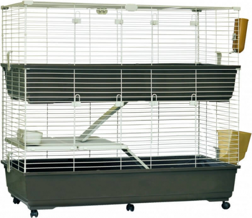 cage pour lapins et cobayes tommy 120 cm avec roulettes. Black Bedroom Furniture Sets. Home Design Ideas