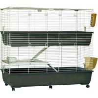 Cage pour lapins et cobayes Tommy 120 cm avec roulettes