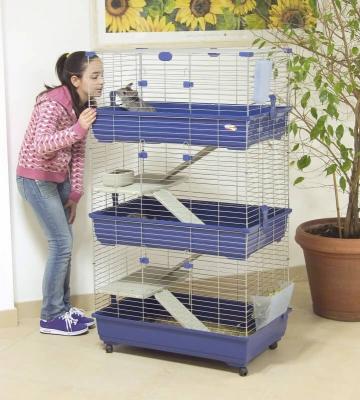 Jaula para conejos, cobayas y hurones 80 cm, 3 pisos
