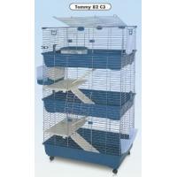 Kooi TOMMY 82 voor konijnen, cavia's en fretten 80cm op 3 verdiepingen