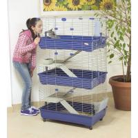 Cage TOMMY 82 pour lapins, cobayes et furets 80cm à 3 étages