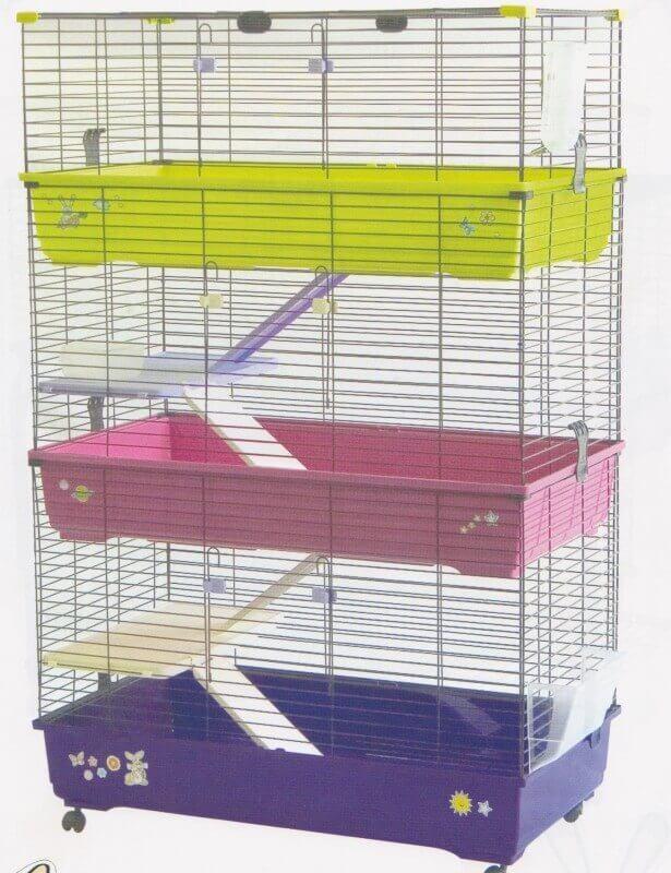 cage pour lapins cobayes et furets 100cm 3 tages. Black Bedroom Furniture Sets. Home Design Ideas