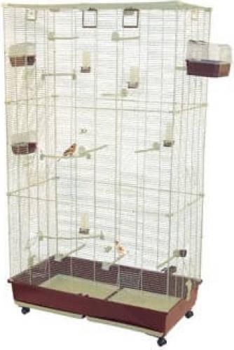 Cage pour oiseaux FEDRA 102 - Hauteur 1m77