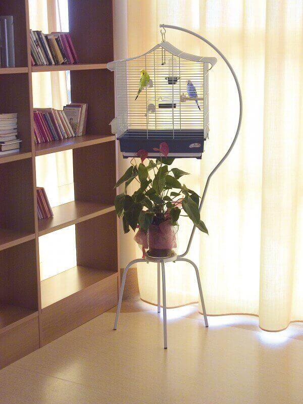 pied pour cage oiseaux. Black Bedroom Furniture Sets. Home Design Ideas