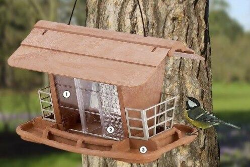 mangeoire abri pour oiseaux en libert jok mangeoire et nichoir oiseaux. Black Bedroom Furniture Sets. Home Design Ideas