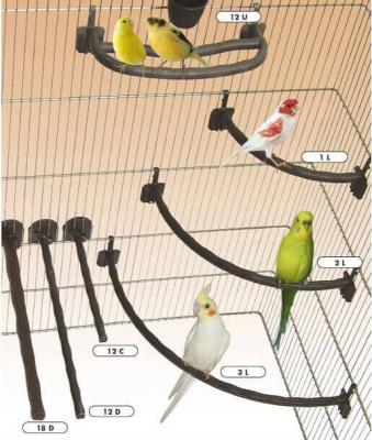 Universal-Sitzstangen PAL - Holzoptik