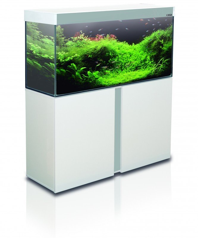 meuble blanc pour aquarium emotions nature 120 aquarium et meuble. Black Bedroom Furniture Sets. Home Design Ideas