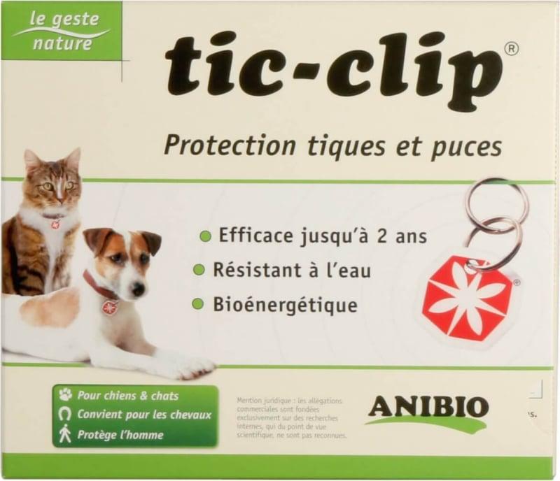 Médaille TIC-CLIP - Protection jusqu'à 2 ans - Anti puces et tiques