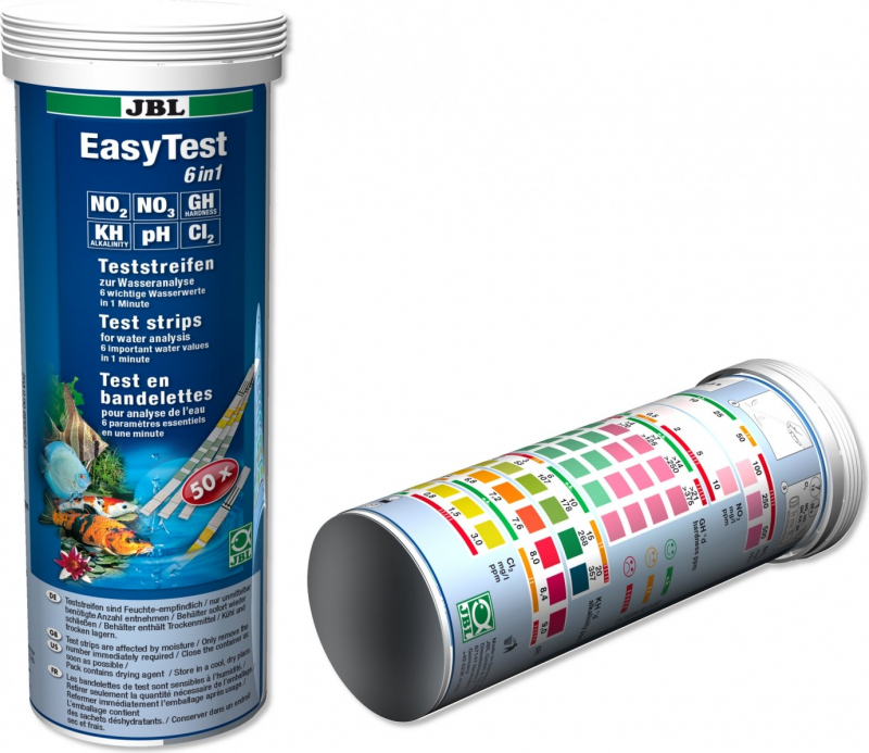 JBL EasyTest 6 tests en bandelette pour aquarium