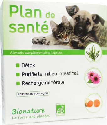 Bionature Plan de santé - Cure d'1 mois pour aide au transit, à la digestion et à la défenses naturelles contre les parasites