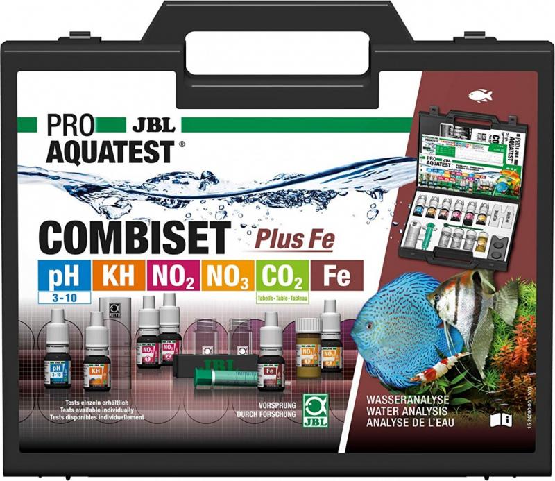 JBL CombiSet Coffret de tests pH, Fer, KH, NO2, N03
