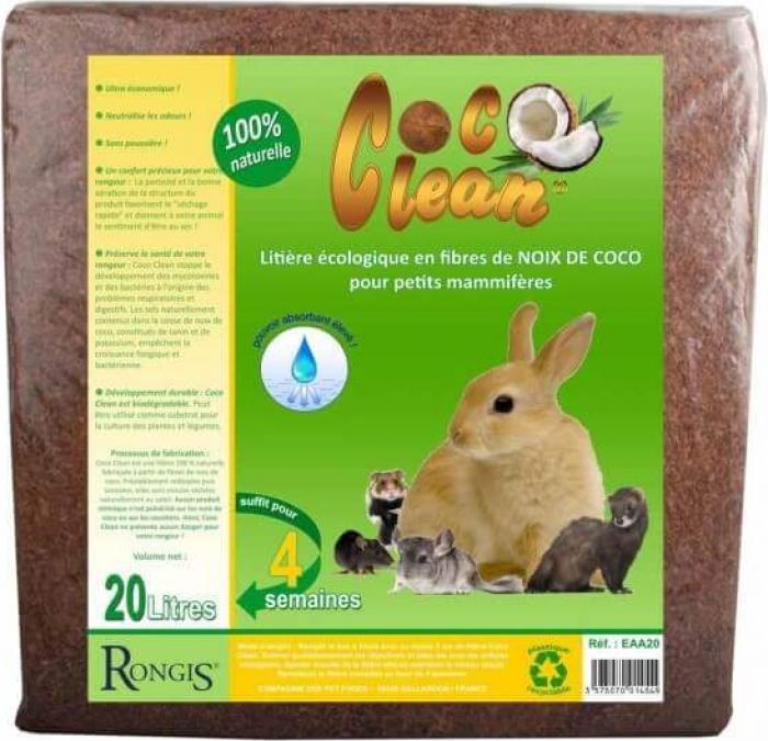 Litière petits mammifères COCO CLEAN 20 litres - Litière pour rongeurs