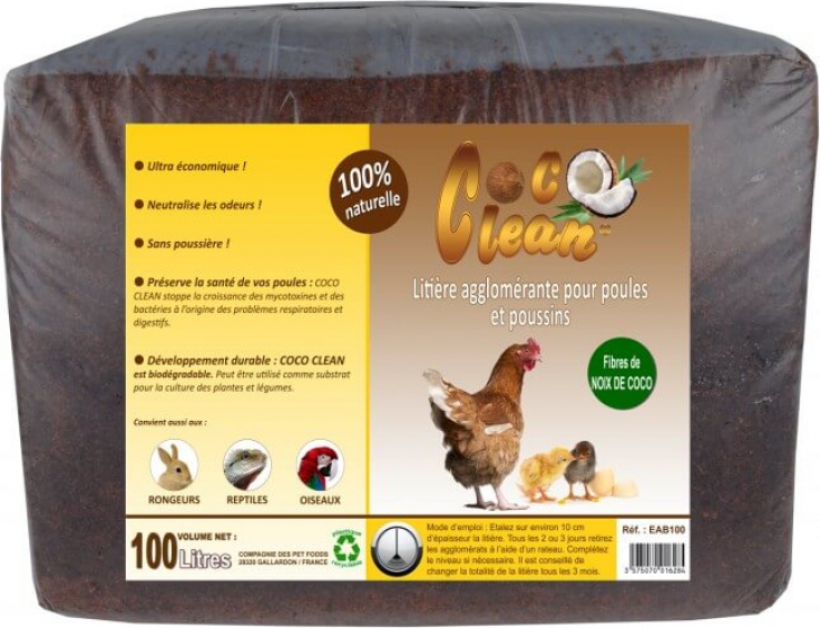 Coconut Fibre Clumping Litter for Chickens, Small Pets and Reptiles