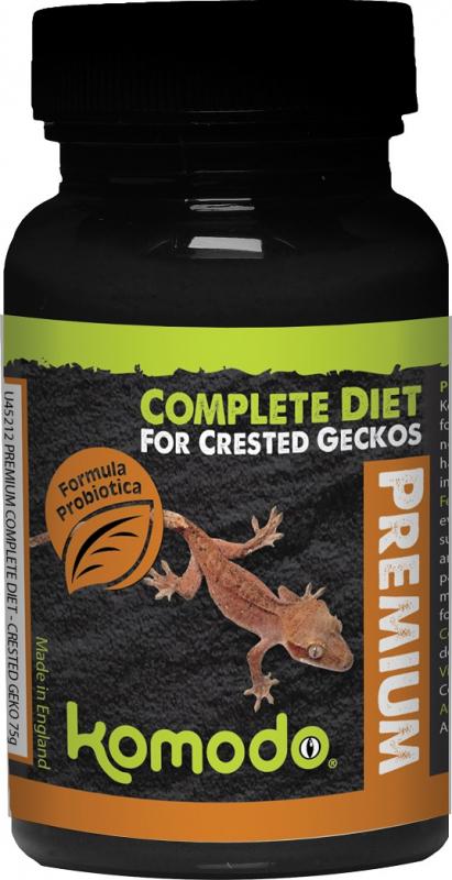 Komodo Premium Gecko de cresta 75 gr. Alimentación completa
