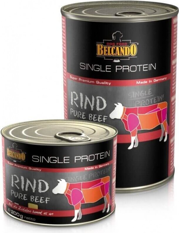 Pâtée Belcando Single Protein pour chien adulte - 6 saveurs au choix