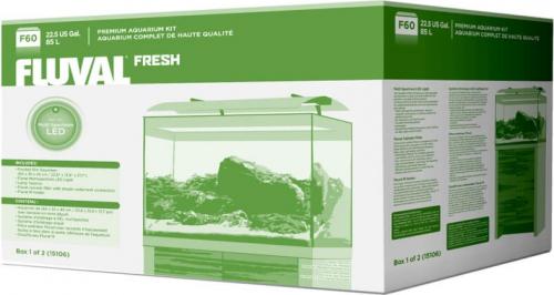 Kit Fresh F-60 - Aquarium 85L d'eau douce équipé + meuble