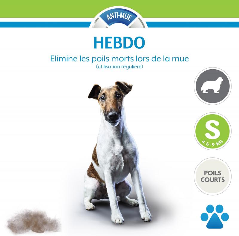 Brosse FURminator pour chiens à poils courts - 5 tailles de brosses selon morphologie du chien