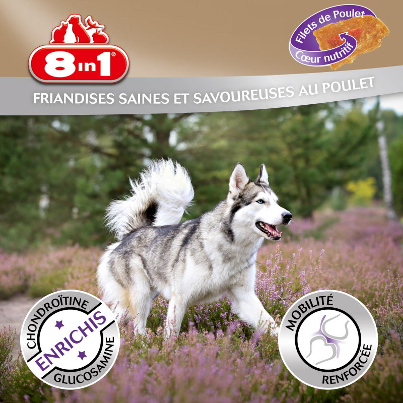 Friandises 8in1 Fillets Pro Active Mobility + pour Chien Adulte
