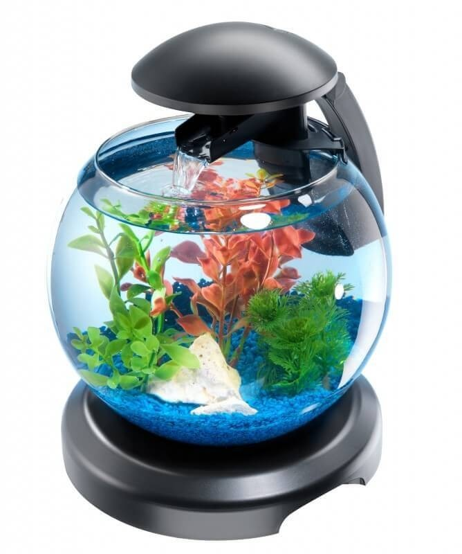 tetra cascade globe 6 8 litre aquarium tanks and cabinets