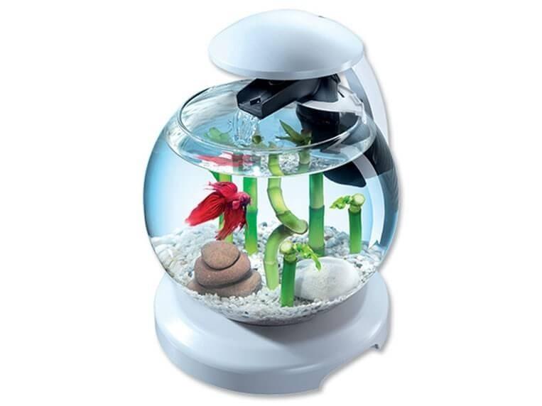 tetra cascade globe noir ou blanc aquarium et meuble